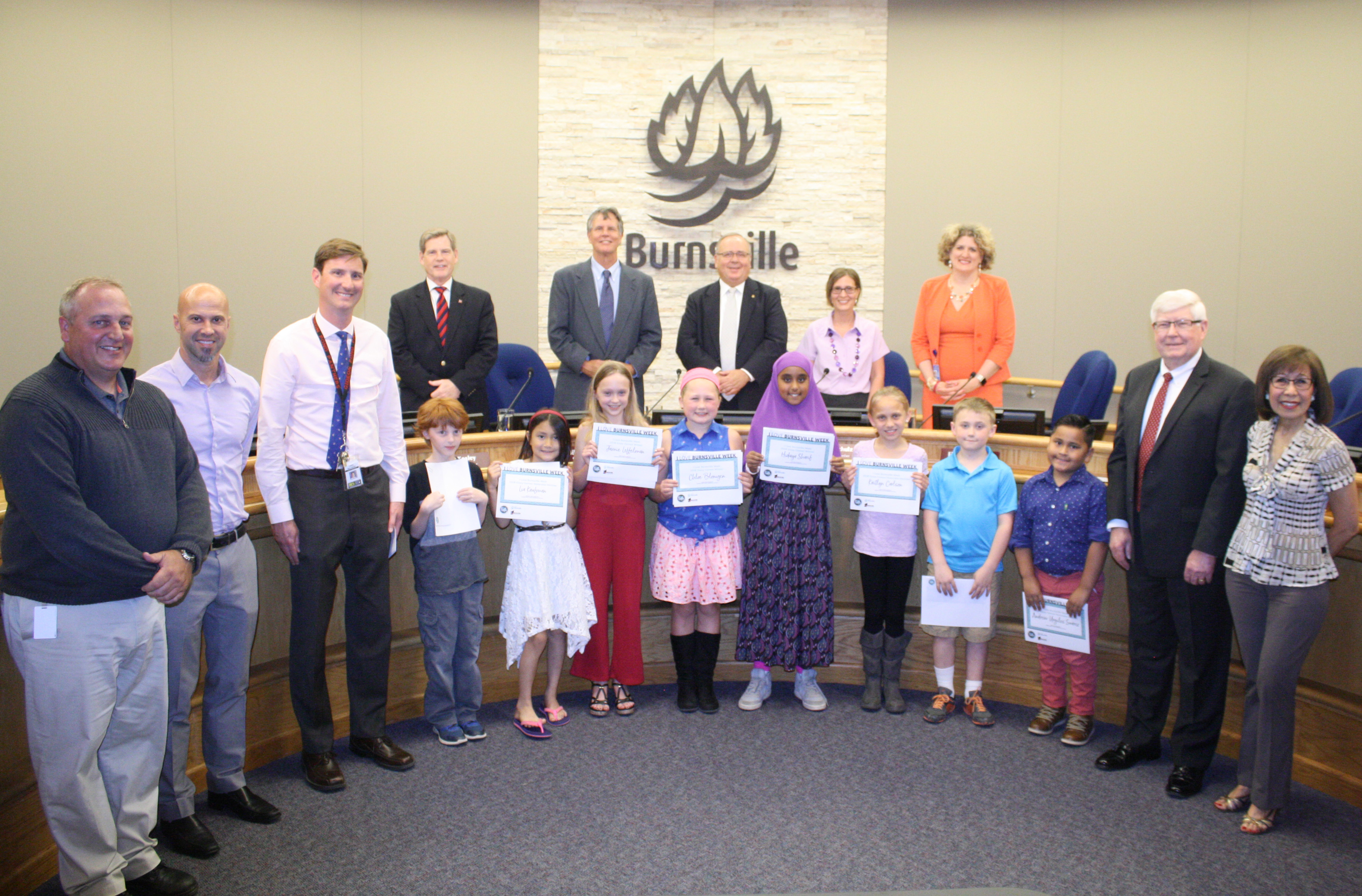 2018 Essay Contest Winners, Honorable Mention, Principals and City Council