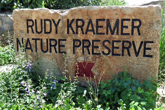 Rudy Kraemer Nature Preserve Entry Sign