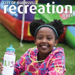 2019 Recreation Times magazine cover showing two children playing in a nature play area