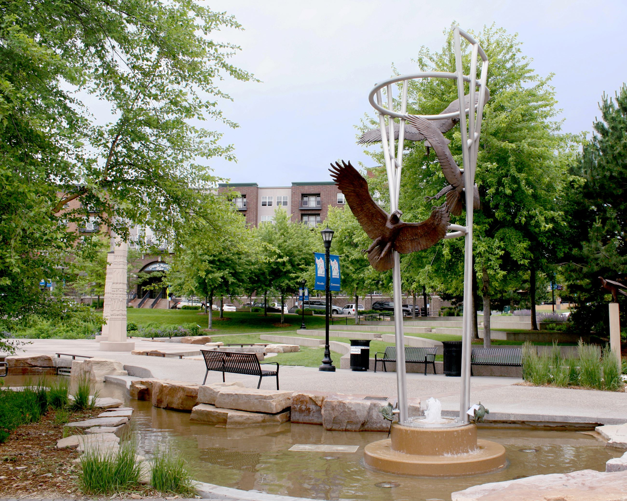 ASCENT sculpture in Nicollet Commons Park