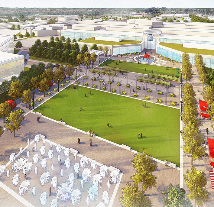 Rendering of the Burnsville Center Village Vision Plan